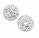 Glitze<sup>TM </sup> Crystal AB 10mm Crystal Rhinestone Pavé Epoxy Clay Round Bead (1PC)
