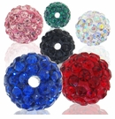 Glitze<sup>TM </sup>Crystal Rhinestone Pav� Epoxy Clay Beads
