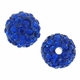 Glitze<sup>TM </sup>Sapphire 10mm Crystal Rhinestone Pavé Epoxy Clay Round Bead (1PC)
