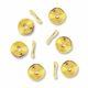 Gold Plated 10mm Wavy Disc Spacer Beads (20PK)