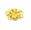 Gold Plated 12mm 2-Strand Flower Round  Box Clasps (4PK)