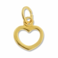 Gold Plated 9mm Open Heart Charm (1PC)