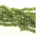 Green 6-7mm Keishi Center Drilled Pearl Strand