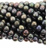 "Large Hole 9-10mm Peacock Freshwater Potato Pearl 8"" Strand"