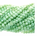 Light  Green  Baroque Potato Freshwater Pearl 5-6mm Bead Strand