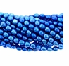 Electric Blue 4-5mm Rice Freshwater Pearl Bead Strand