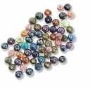 Luster Rainbow Glass Beads Mix (50G)