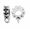 MIOVI� Silver Plated Large Hole 10mm Rondelle Bead with Loop (1PC)