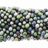 Multi-Color 6-7mm Potato Freshwater Pearl Bead Strand