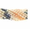 Multi-Color Rice Freshwater Pearl 5x6mm  Bead Strand