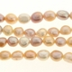 Natural Multicolor Oval Freshwater Pearl 7-9mm Bead Strand