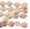 Natural Pink Coin Freshwater Pearl 9-10mm Bead Strand