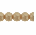 Pearls Imitation Beige 8mm Round Beads (50PK)