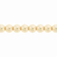 Pearls Imitation Light Cream 4mm Round Beads (100PK)