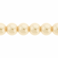 Pearls Imitation Light Cream 6mm Round Beads (100PK)
