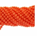 Salmon Coral 6mm AAA Round Beads 16 Inch Strand