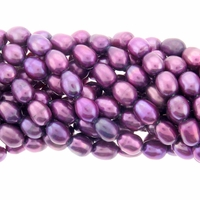 Purple 5-7mm  Rice Freshwater Pearl Bead Strand