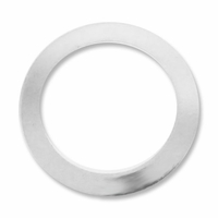 Silver Plated 16mm Flat Ring Link (20PK)