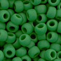 TOHO Seed Bead Size 8/0:  Opaque Frosted Shamrock 10G