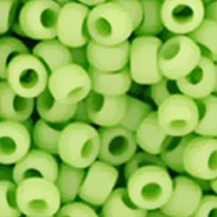 TOHO Seed Bead Size 8/0:  Opaque Frosted Sour Apple 10G