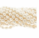White Baroque Rice Freshwater Pearls 5-6mm