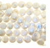 White Coin Freshwater Pearl 13mm Bead Strand
