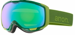 (Sale!!!) Anon Optic M1 Snow Goggles<br>Grasshole/Green Solex + Blue Lagoon