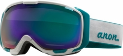 (Sale!!!) Anon Optic M1 Snow Goggles<br>White/Green Solex