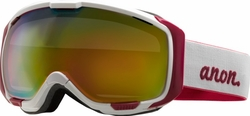 (Sale!!!) Anon Optic M1 Snow Goggles<br>White/Pink