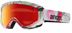 (Sale!!!) Anon Optic Tracker Snow Goggles<br>Burst/Red Amber 2015