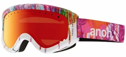 Anon Optic Tracker Snow Goggles<br>Drips/Red Amber