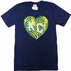 Bunker x Charlie Hustle Collab<br>Tri Navy Tropical KC Tee
