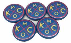BunkerMade Kansas City Pins 5-Pack<br>Red/Blue/Yellow
