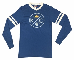 Bunkermade KCMO Unisex Vintage Long Sleeve T-Shirts<br>KC Crown