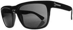 (Sale!!!) Electric Knoxville Sunglasses<br>Gloss Black/Grey Glass Polarized<br>Level III
