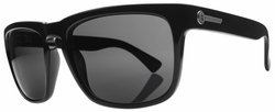 Electric Knoxville Sunglasses<BR>Gloss Black/Melanin Grey Poly Polarized<br>Level I