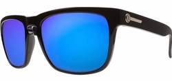 (Sale!!!) Electric Knoxville Sunglasses<br>Gloss Black/Melanin Grey Blue Chrome