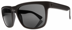 Electric Knoxville Sunglasses<BR>Matte Black/Melanin Grey Poly Polarized<br>Level I