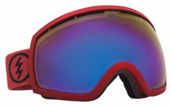 (Sale!!!) Electric Visual EG2 Snow Goggles<br>Brick/Grey-Blue Chrome