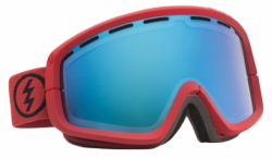 (Sale!!!) Electric Visual EGB2 Snow Goggles<br>Brick/Grey-Blue Chrome<br>+ Yellow Lens