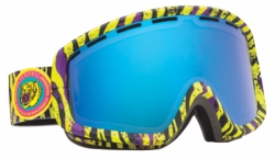(Sale!!!) Electric Visual EGB2 Snow Goggles<br>Dark Safari/Bronze-Blue Chrome<br>+ Yellow Lens