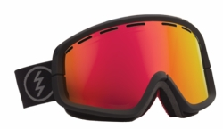 (Sale!!!) Electric Visual EGB2 Snow Goggles<br>Solar/Grey-Red Chrome<br>+ Yellow Lens