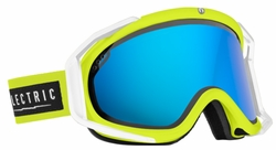 (Sale!!!) Electric Visual Rig Snow Goggles<br>Nukus/Bronze w/Blue Chrome<br>+ Light Green Lens