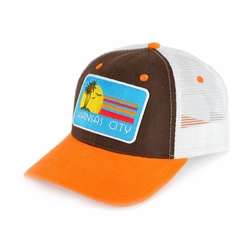 Kansas City Paradise Brown Curved Bill Trucker Hat