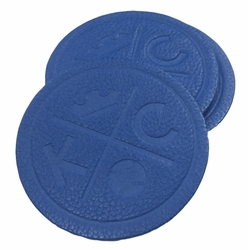 KCMO Leather Goods<br>4-Pack Coasters<br>Blue Crown