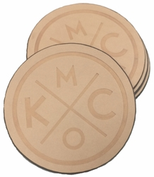 KCMO Leather Goods<br>4-Pack Coasters<br>Natural