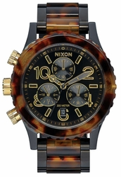 (Sale!!!) Nixon 38-20 Chrono Watch<br>All Black/Tortoise