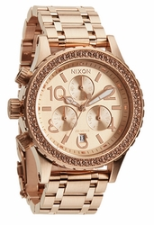 Nixon 38-20 Chrono Watch<br>All Rose Gold