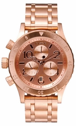 (Sale!!!) Nixon 38-20 Chrono Watch<br>Rose Gold