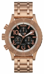 Nixon 38-20 Chrono Watch<br>Rose Gold/Black Sunray